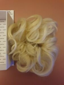 Stranded curly scrunchie thick hairpiece wrap around hair bobble # 60 blonde