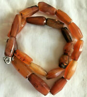 Antique Carnelian Carved Bead Necklace Choker African Trade Routes Bargain