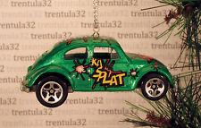 VW BUG VOLKSWAGEN BEETLE GREEN CHRISTMAS TREE ORNAMENT XMAS
