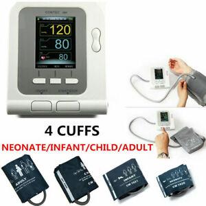 Digital LCD Blood Pressure Monitor,Adult,Child,Infant,Neonatal Cuff,Spo2 Probe