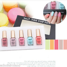 5Pcs/set 6ml Mini Macaron Series Blue Pink Nail Art Polish Eco-friendly Varnish