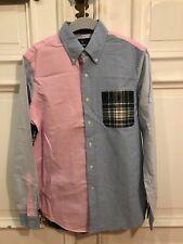 Ralph Lauren Hemd Shirt Classic Fit Gr M für Herren Blau Rosa kariert 100%Cotton