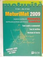 MaturiMat 2009 maturità prova scritta matematica liceo scientifico test teoria