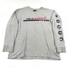 VTG Polo Ralph Lauren Jeans Co T shirt Sleeve Logos XL Double Sided Rescue Team