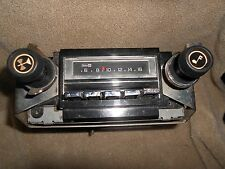 RARE -Vintage Delco AM 8-track PUSHBUTTON Radio W/BRACKET