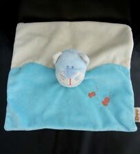 *- DOUDOU PLAT DOU KIDOU CHAT BLANC BLEU POISSON ORANGE ROUGE - NEUF*