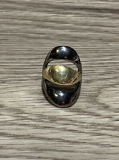 Unique Gunmetal And Gold Tone Ring, Size 8.5