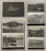 Leporello Thunersee Schweiz 10 fotografisch Postkarten Ansichtskarten um 1900 xz