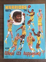Golden State Warriors 1973-74 Official NBA score card & program
