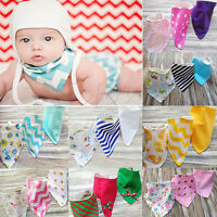 3Pcs Baby Boy Girls Kids Bandana Bibs Saliva Towel Dribble Triangle Head Scarf