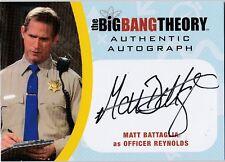 THE BIG BANG THEORY SEASONS  6 & 7 MBA2 MATT BATTAGLIA OFFICR REYNOLDS AUTOGRAPH