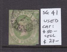 Victoria 1d Green Emblem Qv Used Sg 41