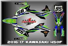 2016-17 KAWASAKI KX450 KX 450F CUSTOM MADE MILLER GRAPHIC KITS DECAL