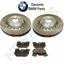 Kit of 2 Front Vented Drilled Brake Rotors & Pads OES For BMW F80 F82 F83 F87