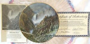 Harry Johnson THE YELLOWSTONE RIVER Plate 3rd Issue America The Beautiful Series