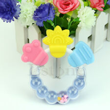 Cute Baby Toddler Teether Chew Toy Molar Rod Silicone Handbell Jingle Design Hot