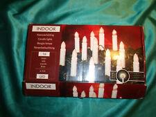 ~ LED Weihnachtsbaumbeleuchtung Lichterkette 16 Kerzen weiß Lichtkette Clip ~