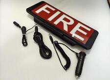 LED Univisor FIRE Text Sign visor illuminate flash Remote Control