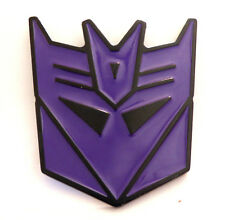 Authentic Transformers Purple Decepticon Solid Pewter Belt Buckle