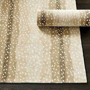 """Ballard Designs 2'6"""" x 8' Runner Antelope Handmade Tufted 100% Woolen Rugs"""