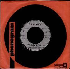 "THIN LIZZY -PHIL LYNOTT Yellow Pearl  7"" Company Sleeve, B/W Girls, Solo 3"