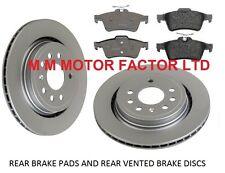 Saab 93 9-3 1.8 1.9 2.0 2.2 TID TTID 2002-2012 Rear Brake Discs & Pads Set New
