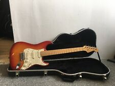Fender American Deluxe Stratocaster Ash 2006 Aged Cherry Electric Guitar