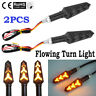 2Pcs LED-Turn Signal Lamp Motorcycle Sequential Flowing Indicator Light Amber