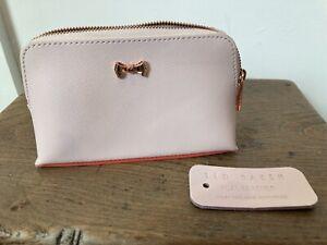 Ted Baker Pink Real Leather Coin Purse Wallet Excellent Designer
