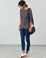 Joules Womens Harbour Print Long Sleeve Jersey Top Shirt - NAVY SPOT Size 12