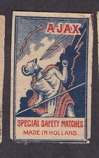 Ancienne  étiquette Allumettes Hollande  BN12158 Ajax 2