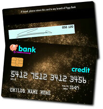 Personalised Novelty Childrens Kids (PVC Plastic) Bank / Credit Card - 6 Designs