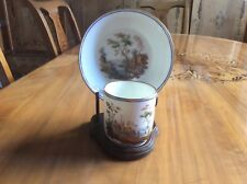AUTHENTIC SEVRES MATCHLESS EXQUISITE ONE OF A KIND SIGNED CUP AND SAUCER - 1773