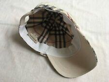 Burberry Nova Check Border Cotton Cap size 52cm XS/S MINT