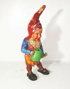 Alter Keramik Gartenzwerg mit Gießkanne 39 cm Vintage Sammler !