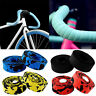 Handlebar Tape Cork Grips Cycling Road Bicycle Bikes Wrap Tapes & Two Bar Plugs
