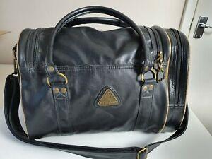 Vintage Retro Head St Moritz 90's Black  Gold  Holdall Sports Weekend Gym Bag