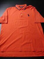 Polo Golf Ralph Lauren Mens Big Pony Shirt Size L Orang Short Sleeve Pima Cotton