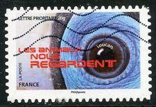 TIMBRE FRANCE AUTOADHESIF OBLITERE N° 1155 / LES ANIMAUX NOUS REGARDE
