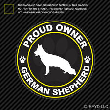 Proud Owner German Shepherd Sticker Decal Self Adhesive Vinyl dog canine pet