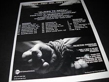 Accept Slaves Metal Tour Dates October-November 1993 Promo Display Ad mint cond