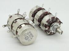 2 x Full Size Triple Gang 100K Ohm 2W 2Watt Audio Carbon Potentiometer Pot