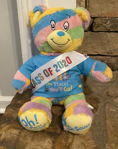 Dr. Seuss Oh The Places You'll Go Build a Bear Plush With Removable Sash & Sound