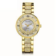Luxury Women Lady Rhinestone Crystal Watches Stainless Steel Quartz Dress Watch