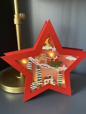 Christmas Star Decoration Light Up LED.Freestanding Large Red Star Gift