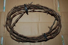 Northern Art 10 FOOT RUSTY VINTAGE BARBED WIRE Cowboy Craft VERY SHARP 10 Feet