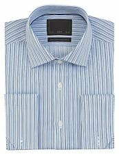 Cotton Striped Long Double Cuff Formal Shirts for Men