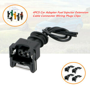 4x Car Auto Adapter Fuel Injector Connector Wiring Plugs Clips for EV1 Interface