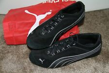 PUMA Women's SUEDE SNEAKERS Speed Cat Black and Gray Size 9 Leather RARE HTF!!!