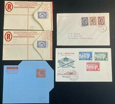 More details for qe ii british west indies postal history/stationery lot x 5.